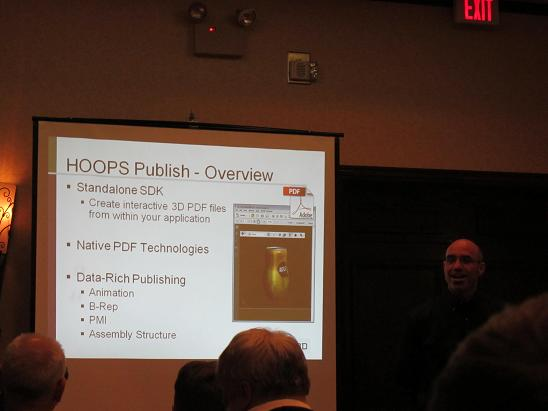 Ron Fritz (CEO of Tech Soft 3D) presenting HOOPS Publish