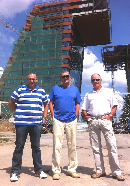Bill King, David Levin, and Ivan Stern in Novosibirsk Technology Park