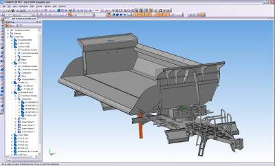 Drawbar sub assembly designed in KOMPAS-3D
