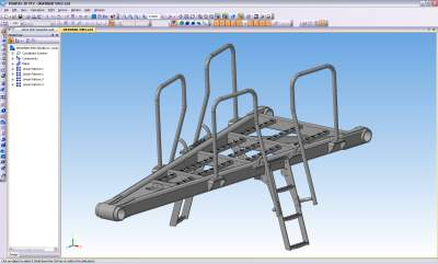 HD pit haulers developed in KOMPAS-3D