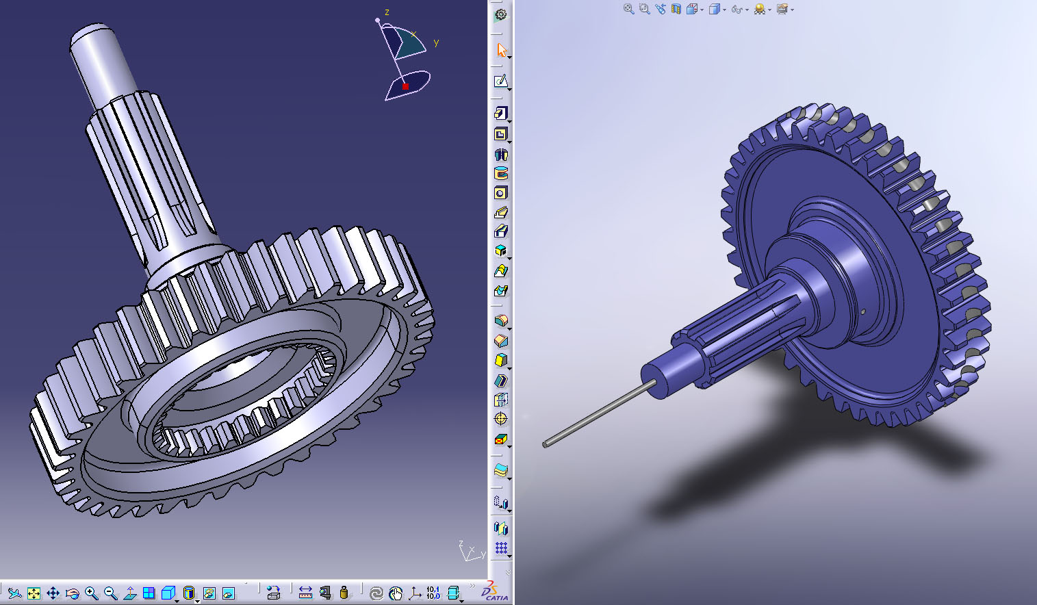 Original CATIA model, and version edited by SOLIDWORKS